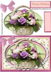 Lovely Basket Of Flowers ,