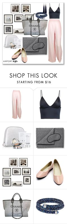 """""""Untitled #262"""" by lionfishka ❤ liked on Polyvore featuring Chanel, T By Alexander Wang, La Prairie, Harrods, Eichholtz, Swarovski and Lanvin"""