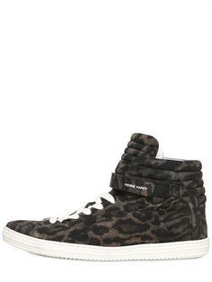 PIERRE HARDY - LEOPARD PRINTED SUEDE SNEAKERS - LUISAVIAROMA - LUXURY SHOPPING WORLDWIDE SHIPPING - FLORENCE