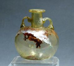 ROMAN EGYPTIAN GLASS ARYBALLOS, ancient (B.C) [previous pinner's caption]