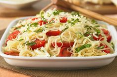 Capellini Caprese recipe    Love this, have made it several times but use Zesty Italian and 1 1/2 times amount