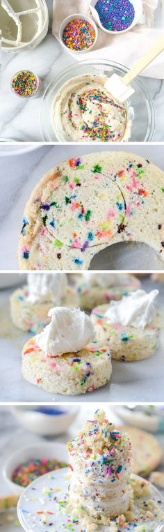 The little birthday girl or boy deserves a little birthday smash cake—just his or her size! Celebrate your baby's first birthday with this easy dessert recipe for mini sprinkle smash cakes, perfectly messy for memorable birthday party photographs!