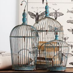 Decorative Moroccan Birdcage  - These Morrocan styled birdcages create an evocative display whether filled with candles & decorative objects or left empty.