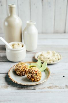 From The Kitchen: Vegan Pumpkin Brown Rice Balls with Hummus or Tamari