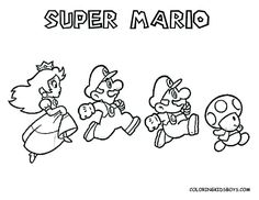 Mario Ausmalbilder Play Time Play Room Mario Coloring Pages