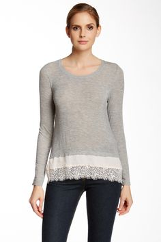 Lace Trim Tunic (Juniors)  by Love On A Hanger on @nordstrom_rack
