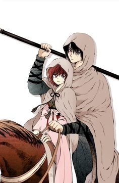 Immagine di akatsuki no yona, manga, and yona Yona Akatsuki No Yona, Anime Akatsuki, Anime Love Couple, Best Couple, Anime Couples Manga, Anime Manga, Fanart, Girl Standing, Noragami
