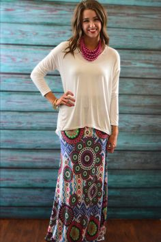 Farrah Maxi Skirt – The ZigZag Stripe. Use coupon code ZZS72 for 10% off and free shipping at zigzagstripe.com!