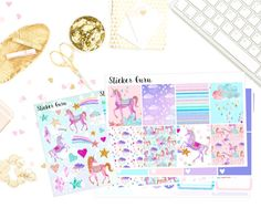 Sticker Guru-Unicorn // Deluxe Weekly Planner Sticker Kit // Planner Stickers [D014]