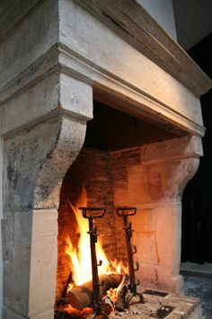 before the Ball. Fireplace Mantle, Fireplace Surrounds, Fireplace Design, Home Interior Design, Home Design, Natural Stone Fireplaces, Hearth, My House, Brick