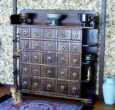 Hey, I found this really awesome Etsy listing at https://www.etsy.com/listing/190758704/apothecary-cabinet-medieval-dollhouse