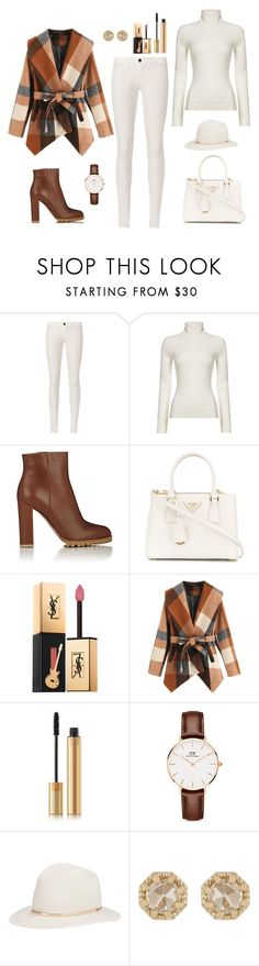 """Untitled #351"" by bajka2468 ❤ liked on Polyvore featuring J Brand, HUGO, Gianvito Rossi, Prada, Yves Saint Laurent, Daniel Wellington, Janessa Leone and Grace Lee Designs"