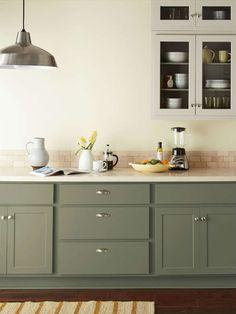 Behr Paint for Kitchen Cabinet. Behr Paint for Kitchen Cabinet. Green Kitchen Cabinets, Refacing Kitchen Cabinets, Built In Cabinets, Painting Kitchen Cabinets, Custom Cabinets, New Kitchen, Kitchen Ideas, Kitchen Decor, Beech Kitchen