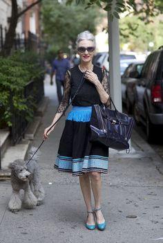 I love this NPR article that celebrates mature ladies with fabulous style! Photo: Linda Rodin, New York City, 2012