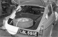 MGB GT factory race car interior