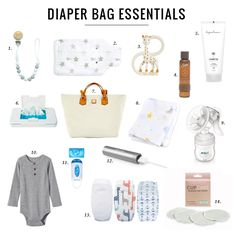 A diaper bag or nappy bag is a storage bag with many pocket-like spaces that is big enough to carry everything needed by someone taking care of a baby while taking a typical short outing. Diaper Bag Checklist, Diaper Bag Essentials, Jillian Harris Baby, Girl Diaper Bag, Diaper Bags, Diaper Cake Instructions, Baby Life Hacks, Baby Shower Favors Girl, Baby Girl Blankets