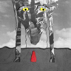 """Collage con recortes y finalización digital sobre portada conceptual del cuento """"Caperucita Roja""""  » Álvaro Dintén, promoción 2013-15 Carrera Técnico en Diseño Visual"""