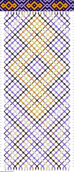 Strings: 24 Colors: 5 Rows: 56 #FriendshipBracelet #Celtic #Twist