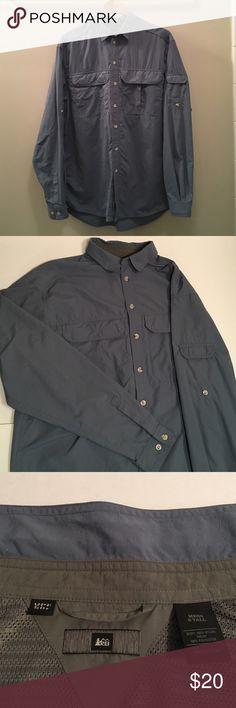 Light Blue REI Men's Long Sleeve Button-Up Shirt Light Blue REI Men's Long Sleeve Button-Up Shirt. Size S Tall. Excellent condition. REI Jackets & Coats Lightweight & Shirt Jackets