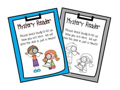Mystery Reader Door Sign - a FREE sign to hang on your classroom door to welcome your Mystery Reader.