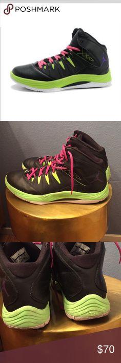 🏀Jordan- FLY 2013 Nike Zoom Air (Size 13) Men 🏀Jordan- Retro FLY 2013 Nike Zoom Air (Size 13) Men Good Used Condition (small flaw on upper inner shoe) Pic #6 Leather Upper Rubber Sole Tie Closure Jordan Shoes Sneakers