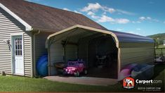 A custom RV cover keeps your mobile home safe from the elements when it is off the road. Free local delivery and installation with your consultation. Metal Rv Carports, Rv Covers, Local Delivery Service, Carport Garage, Home Safes, Steel Frame, Shed, Outdoor Structures, Garages