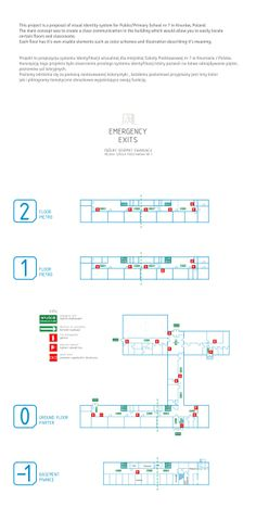 Wayfinding System for primary school by fnk, via Behance