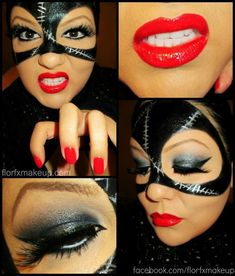 Cat woman make up and nails
