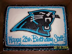 Carolina Panthers cake from Cakes by Amy.