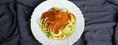 Rohkost Zucchini Spaghetti