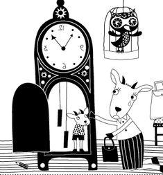Geitje in de klok
