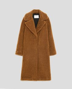 Image 11 of LONG TEXTURED COAT from Zara