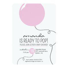 3 contoh dialog bahasa inggris tentang invitation lengkap beserta ready to pop pink balloon girl baby shower invite stopboris Gallery