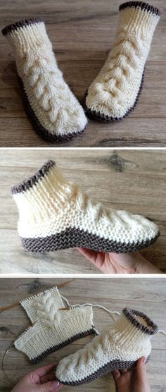 Hottest Photos knitting slippers for beginners Popular Free Knitting Pattern Sie Hausschuhe Patern Wool Cable Slippers – Free Knitting Pattern Knitting Blogs, Knitting For Beginners, Knitting Socks, Knitting Patterns Free, Knit Patterns, Free Knitting, Knitting Projects, Baby Knitting, Knit Socks