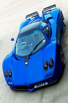 Electric Blue Pagani Zonda - thoughts? Hot or Not? Click to sign up for #TinderforCars
