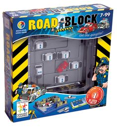 Smartgames Roadblock Brain Teaser Puzzle - Block in the red car in this blockbuster game. The chase is on: block off all escape routes; don't let the car thief outrun you. With 60 high-octane challenges to pursue, RoadBlock promises hours of fun. Logic Problems, Brain Teaser Puzzles, Logic Games, Problem Solving Skills, Toys Online, Brain Teasers, Police Cars, Arcade Games, Toys