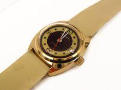 Armbanduhr+ungetragen+50er+Vintage+Uhr+vergoldet+von+Mont+Klamott+-+seltene+Vintage+Einzelstücke:+Liebzuhabendes,+Verspieltes,+Tickendes,+Klunkerndes,+Zauberhaftes,+Antikes,+Kurioses,+Schmuck+&+Uhren++auf+DaWanda.com