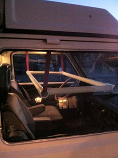 how to build a van conversion hammock bed front seats - Google Search
