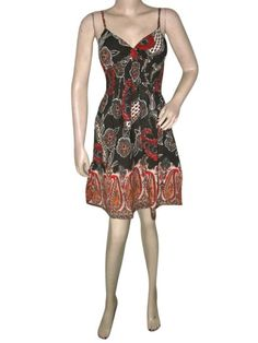 Amazon.com: Boho Dress, Brown Rust Bohemian Dresses Spaghetti Strap Dress Mogulinterior: Clothing