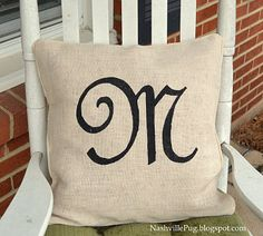 Stenciled pillow covers using freezer paper