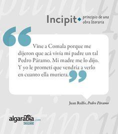 #Incipit: «Pedro Páramo»
