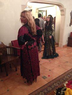 Sukhneh silk embroidered coat. Syria