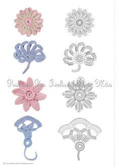 flower crochet appliques