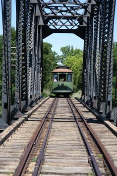 The trolley begins at a station and heads off into the beauties of the Fort Abraham Lincoln State Park along the Heart River.
