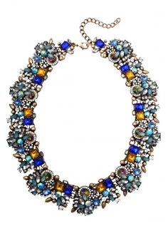 Gem Filled Statement Necklace