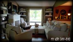 Shelves on either side of a large window might work in my family room.
