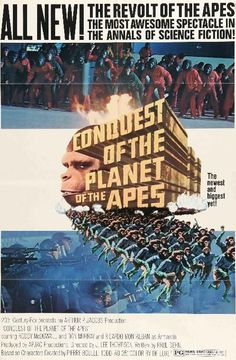 Conquest of the Planet of the Apes posters for sale online. Buy Conquest of the Planet of the Apes movie posters from Movie Poster Shop. We're your movie poster source for new releases and vintage movie posters. Science Fiction, Fiction Movies, Sci Fi Movies, Good Movies, 1970s Movies, Awesome Movies, Watch Movies, Original Movie Posters, Movie Poster Art