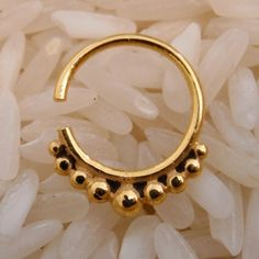 Gold Plated Septum For Pierced Nose - Septum Jewelry - Indian Nose Ring - Ethnic Septum - Septum Piercing - Nose Jewelry (Code G1) on Etsy, $17.94 CAD