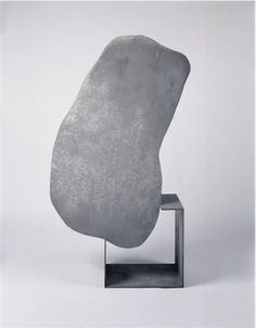 """"""" Isamu Noguchi, Magritte's Stone, prototype, hot-dipped galvanized steel; fabricated by Gemini G. Photo by Kevin Noble The Noguchi Museum more EXQUISITEness inside """" Art Sculpture, Stone Sculpture, Abstract Sculpture, Abstract Art, Abstract Expressionism, Garden Sculpture, Contemporary Sculpture, Contemporary Art, Isamu Noguchi"""