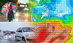 UK WEATHER ALERT: Britain to be hit by ATLANTIC STORM as a months rain falls TOMORROW